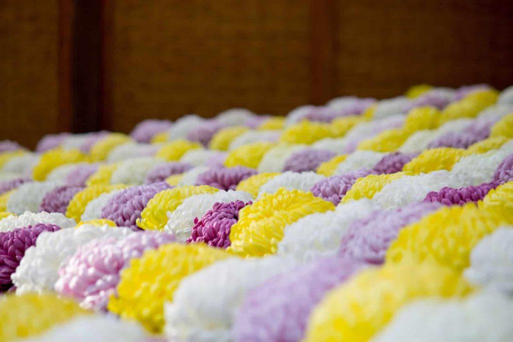 故人を偲ぶ献花