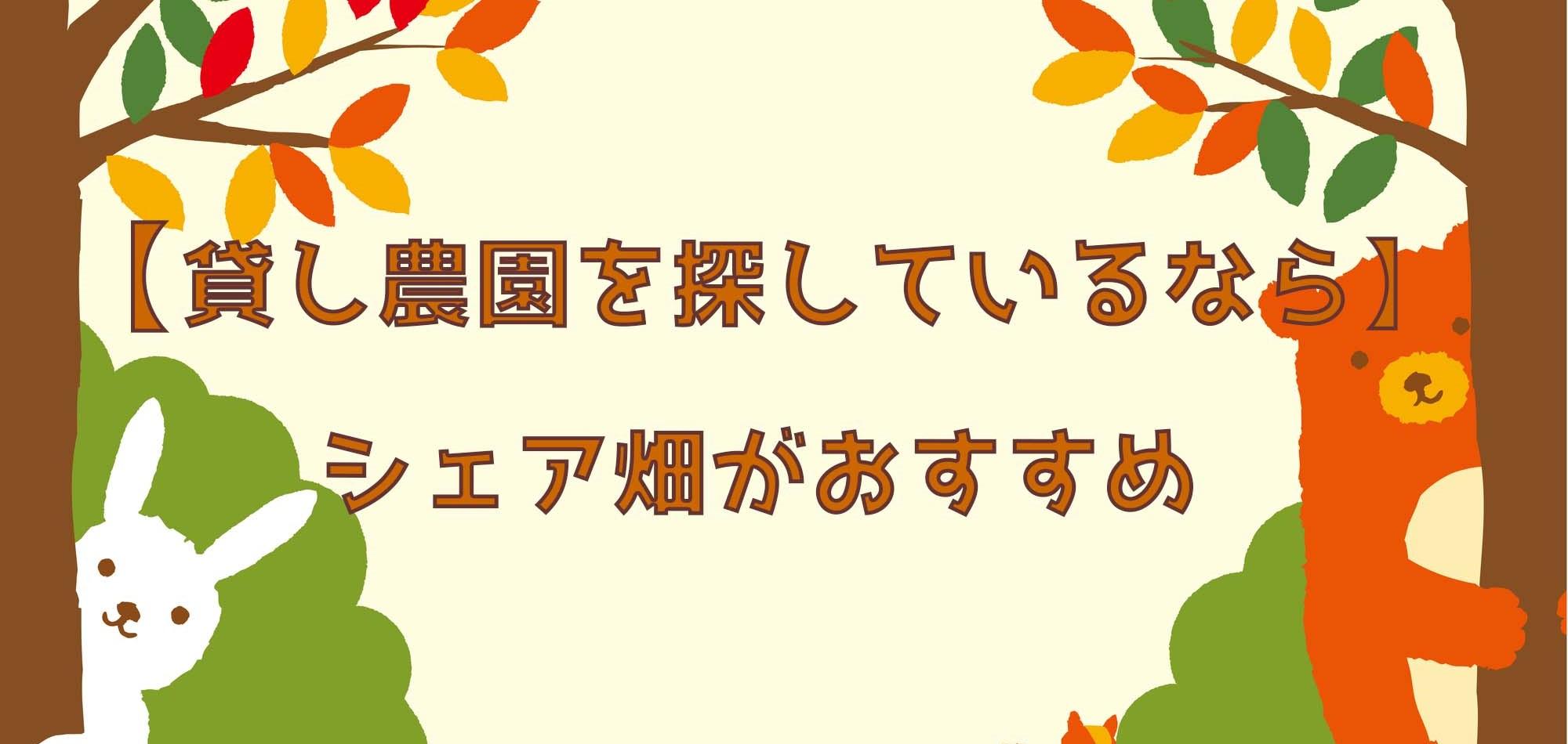 【東京で貸し農園を探しているなら】シェア畑がおすすめ