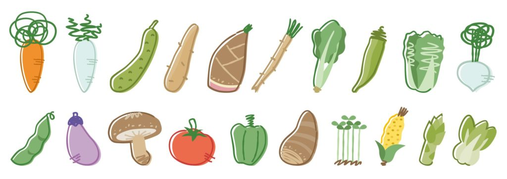 シェア畑で作れる野菜
