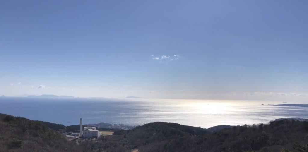 伊豆7島のほとんどが一望できる展望台